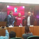 Pamela Conti fue presentada oficialmente por la FVF
