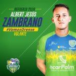 Albert Zambrano se muda al Orense S.C. de Ecuador