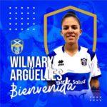 "Wilmary Arguelles se viste de ""blanquiazul"""