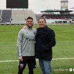 Peseiro se reunió con Junior Moreno en Washington como parte de su gira