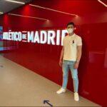 Samuel Rodríguez firmó con el primer equipo del Atlético de Madrid