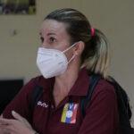 Pamela Conti viajó a San Felipe para presenciar el inicio de la Liga FUTVE Femenina
